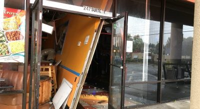 Three businesses shut down after wind gusts damage building in…